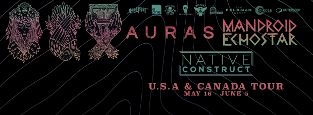 Mandroid Echostar and AURAS Team Up For North American Tour