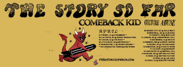 Comeback Kid Touring with The Store So Far